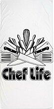 CafePress–Chef Life–Handtuch