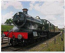 CafePress–Eisenbahn Geschenke, Dampf Bahn–weicher Fleece Überwurf Decke, 127x 152,4cm Stadion Decke, weiß, 50x60