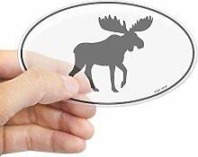 CafePress–Elch–oval Bumper Sticker KFZ