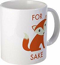 CafePress–Für Fox Sake Tasse,, weiß, Mega
