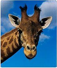 CafePress–Giraffe–weicher Fleece Überwurf Decke, 127x 152,4cm Stadion Decke, weiß, 50x60