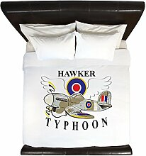 CafePress–Hawker Typhoon. jpg–King Bettdecke Mikrofaser