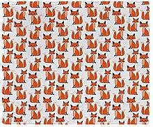 CafePress–Hipster Füchse Cute Fox Muster woodl–Soft Fleece Überwurf Decke, 127x 152,4cm Stadion Decke, weiß, 50x60