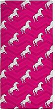 CafePress–Hot Pink, Weiß Pferd, Reiter,