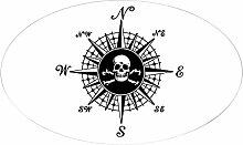 CafePress–Kompass Rose II Aufkleber