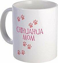 CafePress–Pink Chihuahua Mom–Einzigartige Kaffee Tasse, Kaffeetasse, Tee, Tasse, weiß, S