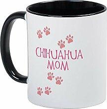 CafePress–Pink Chihuahua Mom–Einzigartige Kaffee Tasse, Kaffeetasse, Tee, Tasse, White/Black Inside, S