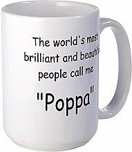 CafePress–Poppa–Großer Becher