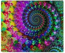 CafePress–Psychedelic Rainbow Fractal Muster–weicher Fleece Überwurf Decke, 127x 152,4cm Stadion Decke, weiß, 50x60