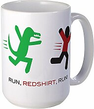 CafePress – Run, rothemden, Run. – Großer Becher