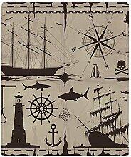 CafePress–Set von maritimen Design Elements–weicher Fleece Überwurf Decke, 127x 152,4cm Stadion Decke, weiß, 50x60