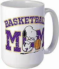 CafePress – Snoopy Basketball Mom – Großer Becher