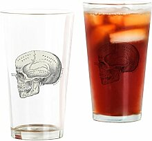 CafePress-Totenkopf-Pint-Glas, 16oz