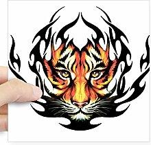 CafePress–Tribal Flame Tiger quadratisch