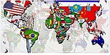 CafePress–Welt Flagge Karte–Große