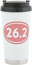 CafePress - 26.2 Marathon Oval Stainless Steel