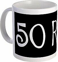 CafePress 50. Geburtstag Spruch; 50Rocks Tasse,