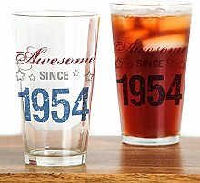 CafePress Awesome Since 1954 Pint-Glas durchsichtig