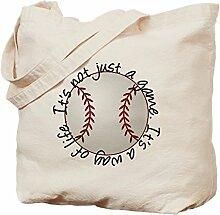 CafePress Baseball for Life Tragetasche, canvas,