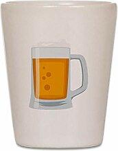 CafePress Bierbecher Emoji Schnapsglas weiß
