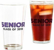 CafePress Bierglas, 454 ml, Senior Purple Trinkglas