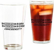 CafePress Bierglas, 473 ml Trinkglas durchsichtig