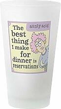 CafePress Bierglas, Aunty Acid, für Dinner