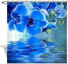 CafePress blau Orchideen Vorhang für die Dusche, weiß, Standard