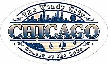 CafePress Chicago oval oval Aufkleber Aufkleber