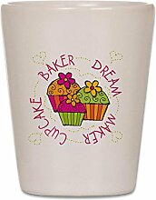 CafePress Cupcakedreambaker Schnapsglas, glas,