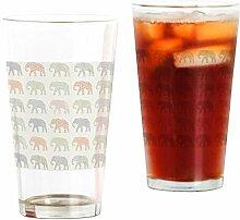 CafePress Deko-Glas, Elefantenmotiv, bunt