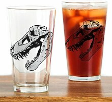 CafePress Dinosaurier Skelett Trinkglas, glas,