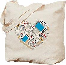 CafePress Einkaufstasche mit Herzmotiv, canvas,