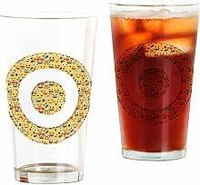 CafePress Emoji Glas mit rundem Buchstaben O Pint