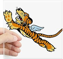 CafePress Flying Tiger Aufkleber–Quadratisch