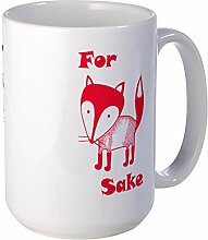 CafePress - For Fox Sake Mugs - Coffee Mug, Large