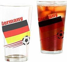 CafePress Germany Pint-Glas mit Fußballmannschaft