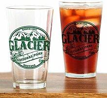 CafePress Glacier Old Circle Pint-Glas farblos