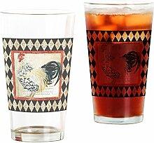 CafePress Glas für Allen Setter, Hahn, Schwarz