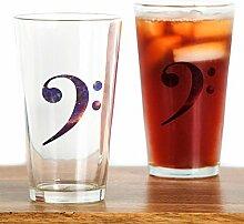 CafePress Glas für Bassschlüssel, ca. 450 ml