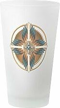 CafePress Glas mit Mandala-Motiv frosted