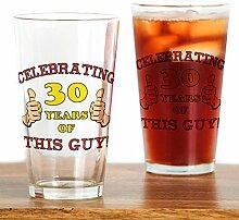CafePress Glas zum 30. Geburtstag für Ihn farblos