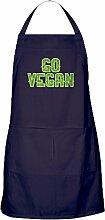 CafePress Go Vegan Küchenschürze mit Taschen
