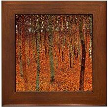 CafePress – Gustav Klimt Art Gerahmte Fliese aus