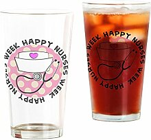 CafePress Happy Nurses Week Glas für