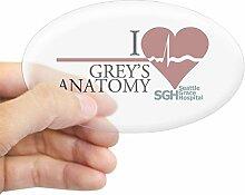 CafePress I Heart Grey 's Anatomy Oval