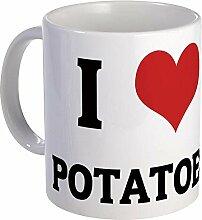 CafePress I Love Kartoffeln Tasse–Standard
