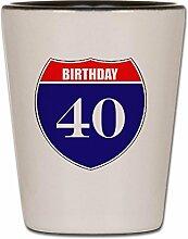 CafePress is40born Schnapsglas, glas,