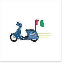 CafePress Italian Scooter Vespa Motorrad Aufkleber