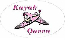 CafePress Kajak Queen Oval Aufkleber Aufkleber